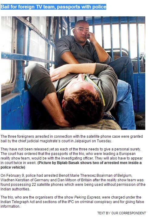 Pékin Express 'LIBRE' Les 3 personnes encore incarcérées sont libres mais leur passeport encore aux main se la police