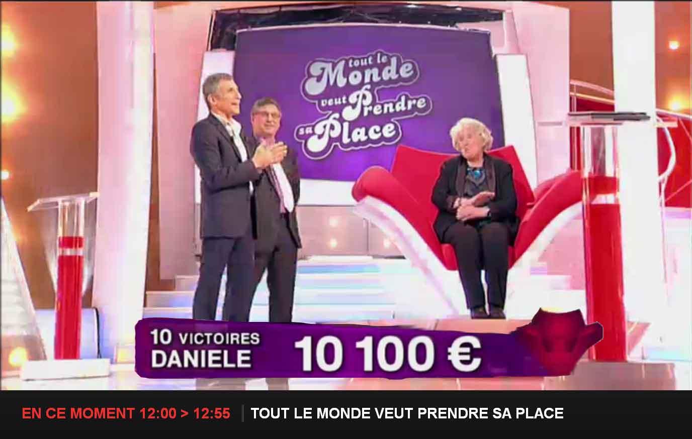 10 éme victoire de 'Mamie Danièle' dans 'Tout le Monde veut prendre sa place'
