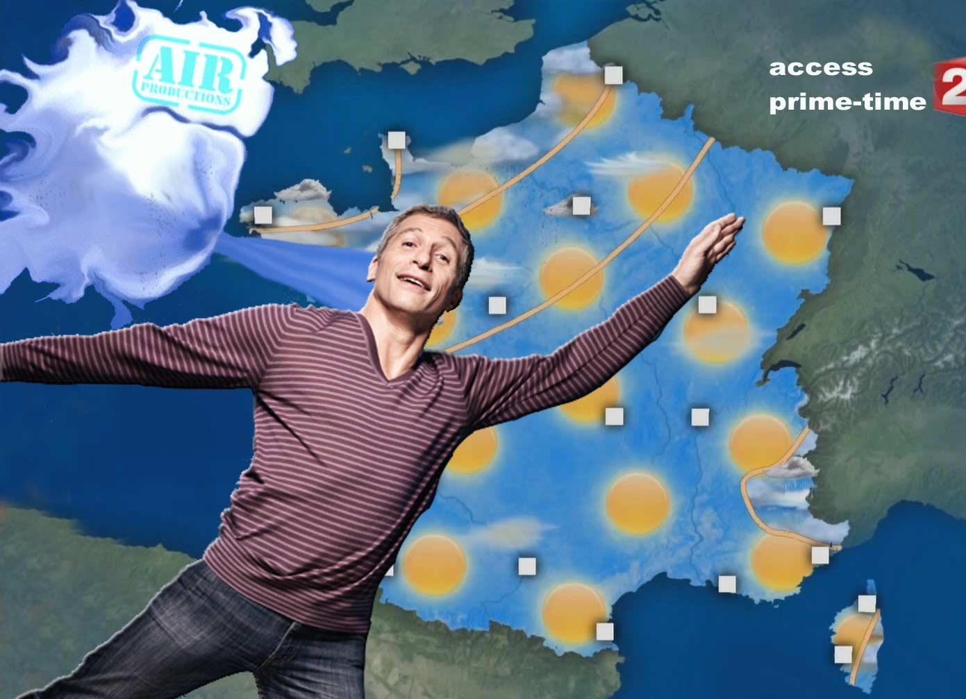 Nagui, monsieur météo sur tweeter