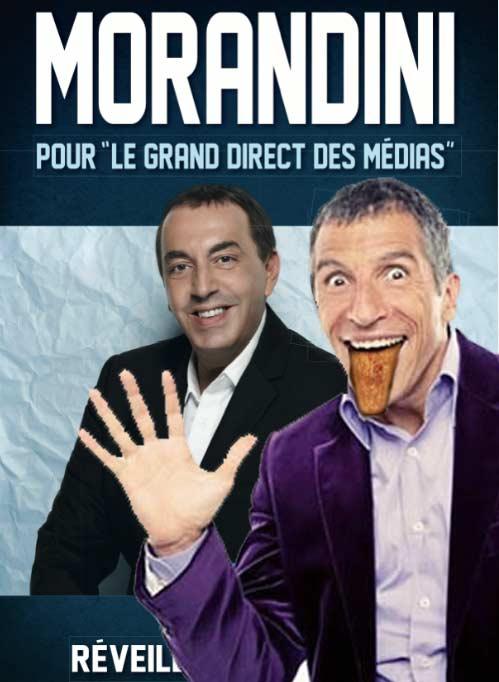 Nagui manie la langue de bois à merveille dans l'émission Média de Morandini