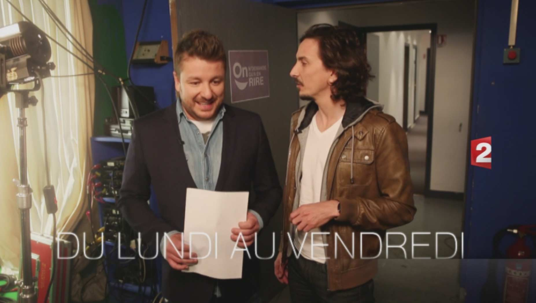 Bruno Guillon et Arnaud Tsamere dans On n'demande qu'à en rire