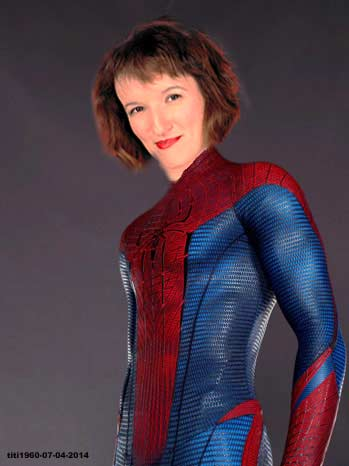 Anne Roumanoff spiderman ?