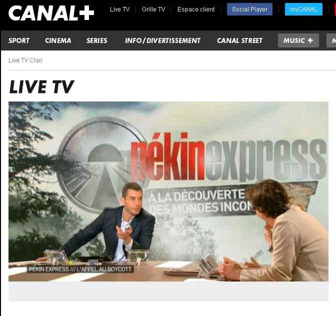 Canal + Parle du Boycott de Pékin Express