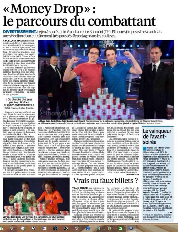 #MoneyDrop : Le parcours du combattant. Reportage dans les coulisses du jeu de #TF1. (LeParisien)
