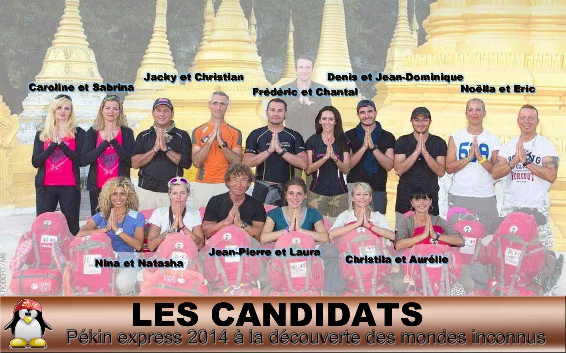 Candidats Pékin Express 2014