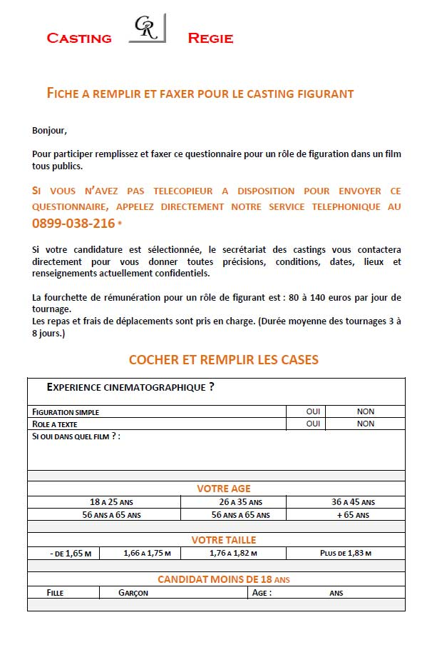 PDF Arnaque Casting