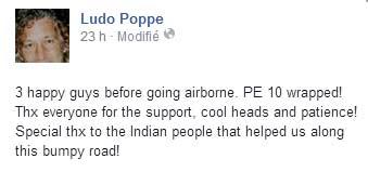 Ludo Pope fait l'annonce sur son compte Facebook