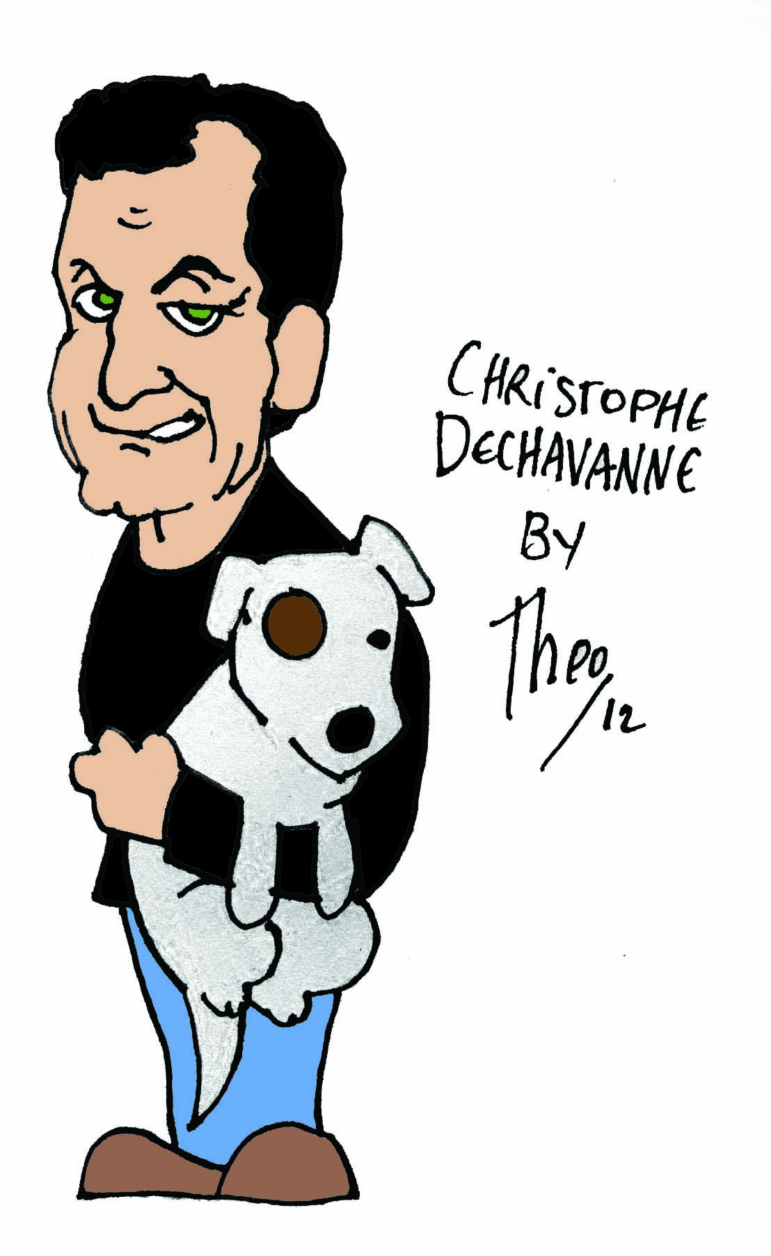 Christophe Dechavanne par Theo