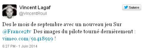 Tweet d'un compte twitter Vincent Lagaf'