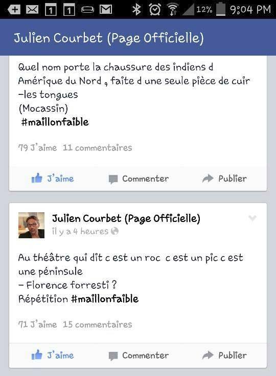 Julien Courbet en répétition du 'Maillon Faible'