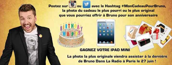 Bruno Guillon vous offre des cpour son anniversaire