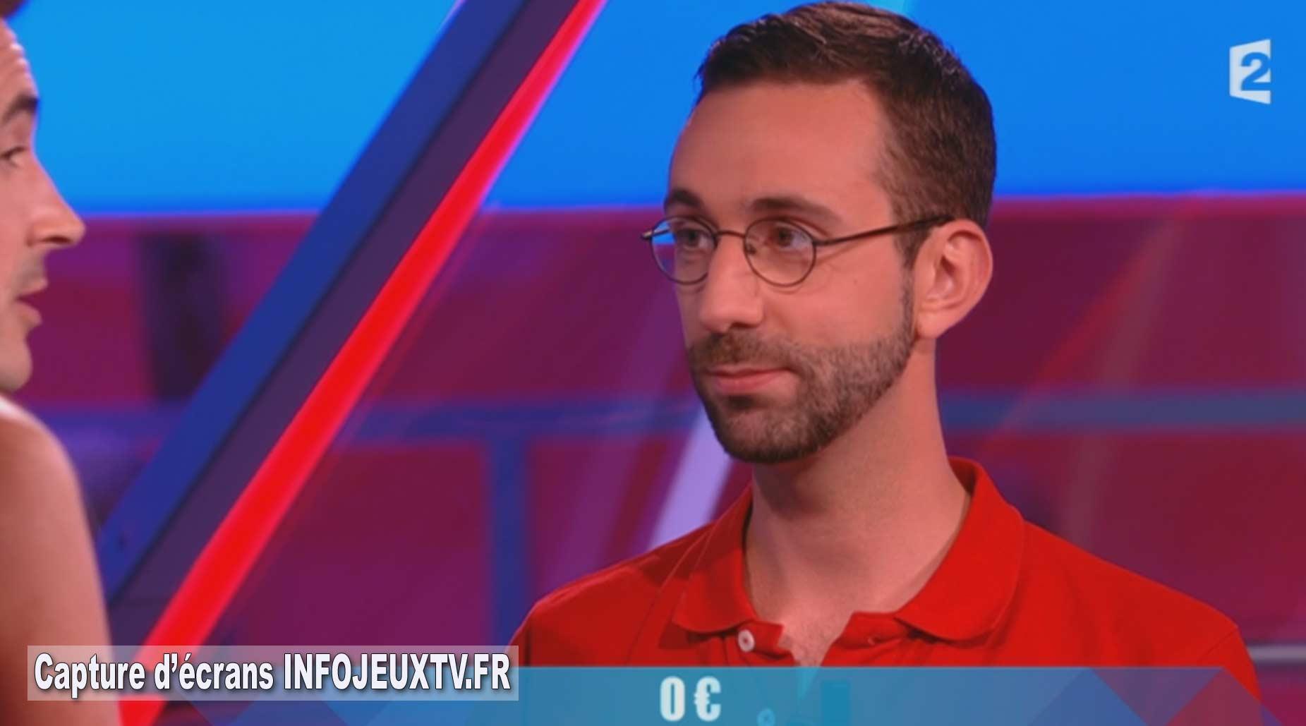 Laurent n'a pas trouvé la réponse a l'énigme et repart avec 0€