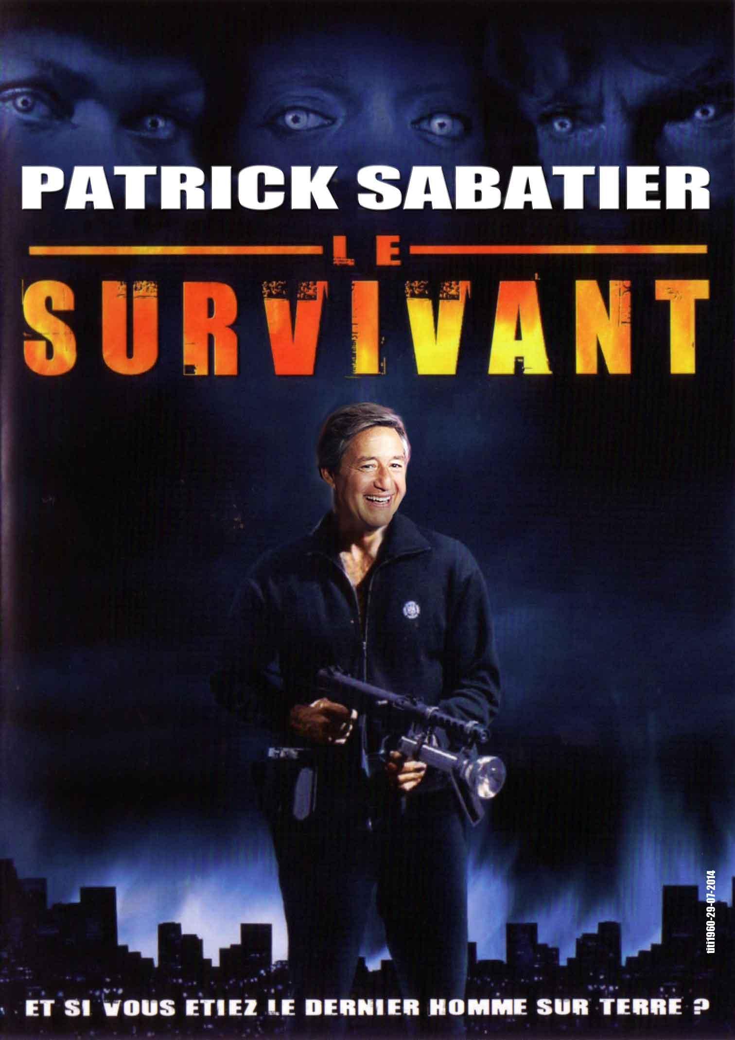 Patrick Sabatier détournement de la Jaquette du DVD le Survivant