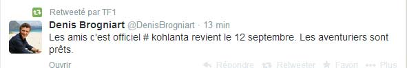 Tweet de Denis Brognard