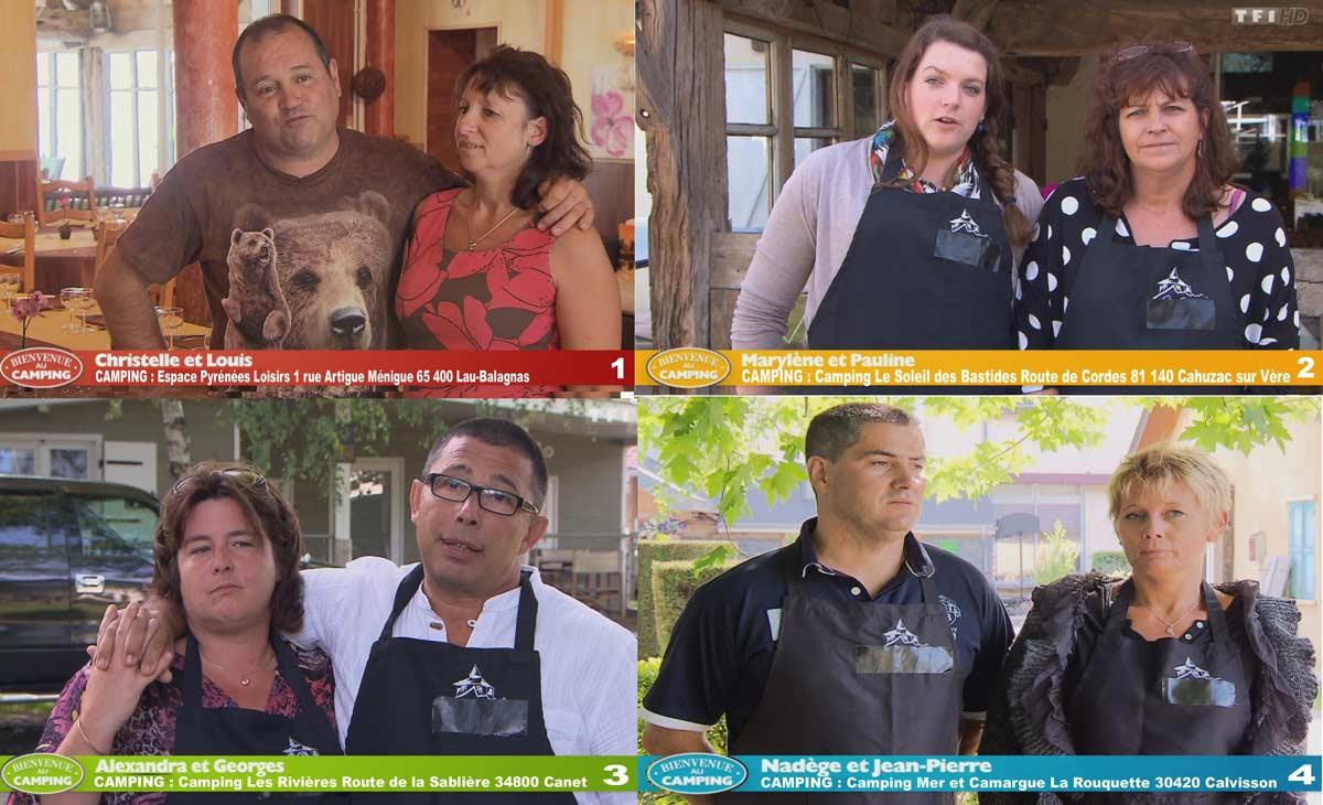 Les Candidats de la 2éme semaine de 'Bienvenue au Camping'