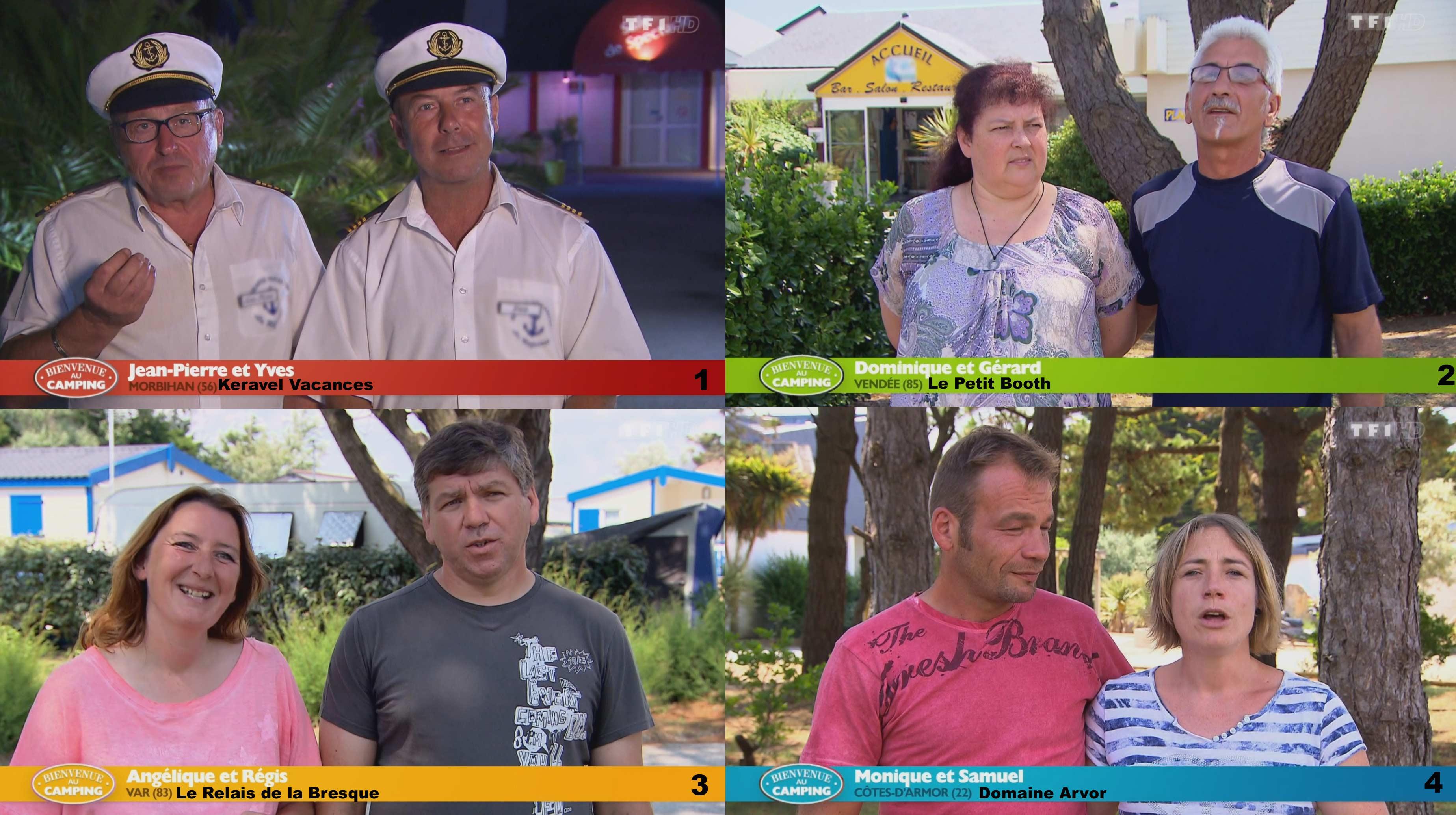 Candidats de 'Bienvenue au Camping'