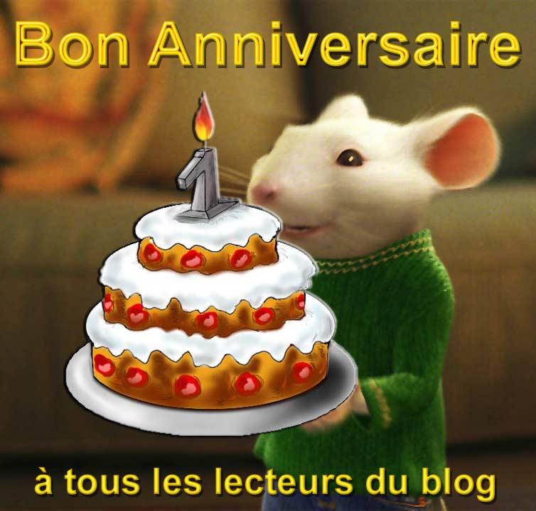 La petite souris vous souhaite bon anniversaire