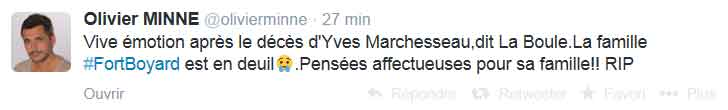 Tweet d'olivier Minne