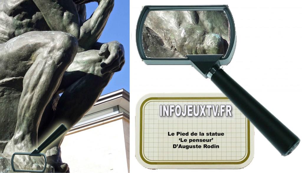 Image Mystère 'Face à la Bande' Le penseur de Rodin