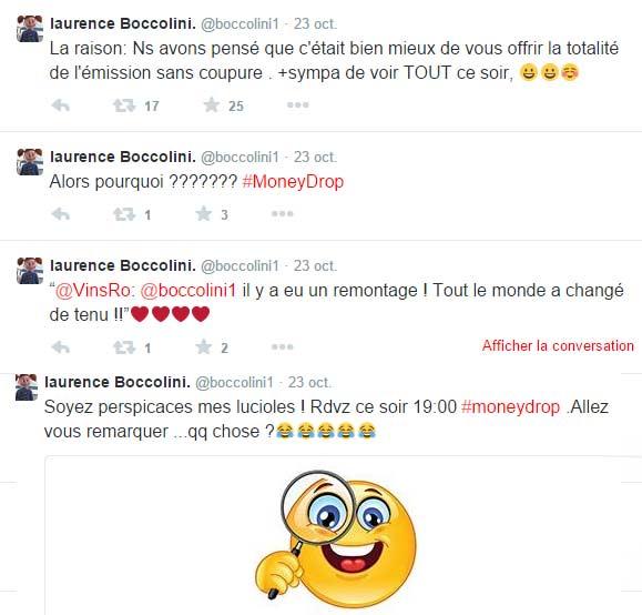 Tweet de Laurence Boccolini le soir de la diffusion