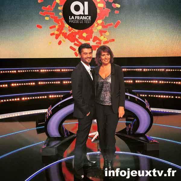 @Clapierchristop poste cette photo sur son compte twitter Bientôt @TF1 QI : la France passe le test avec #CaroleRousseau et @Tof_Beaugrand