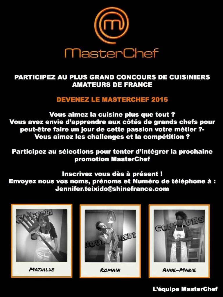 Casting Master Chef 2015