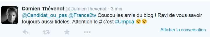 Tweet de Damien Thévenot
