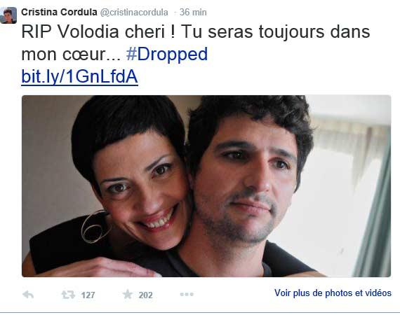 Homage de Cristina Cordula à son ami Volodia