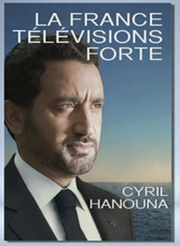 Affiche de campagne de Cyril Hanouna