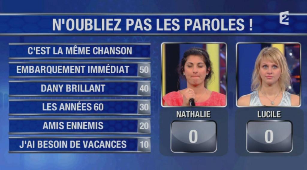 Lucile face à Nathalie