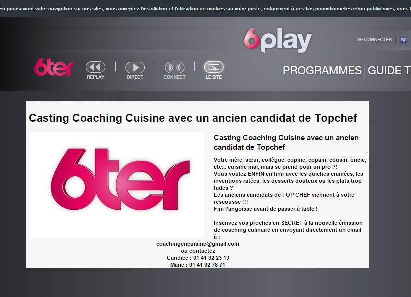 Coaching culinaire 6ter