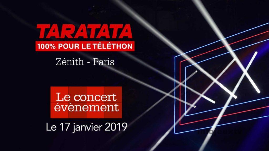 Concert événement Taratata 100% téléthon